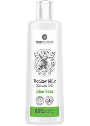 Shower gel with Donkey Milk and Aloe vera 200ml