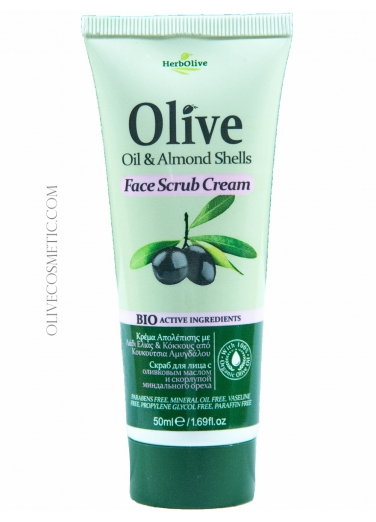 Face Scrub with Olive oil and Almond Shells 50ml