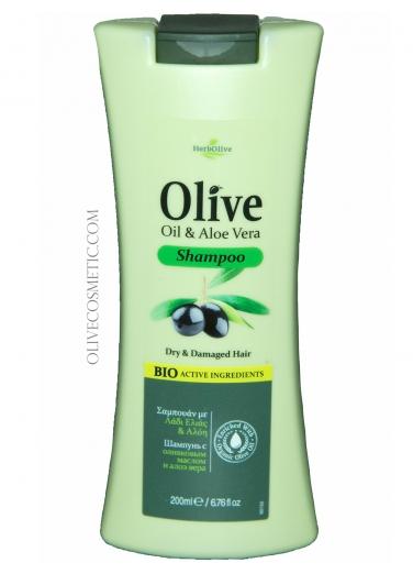 Shampoo Olive Oil and Aloe Vera 200ml