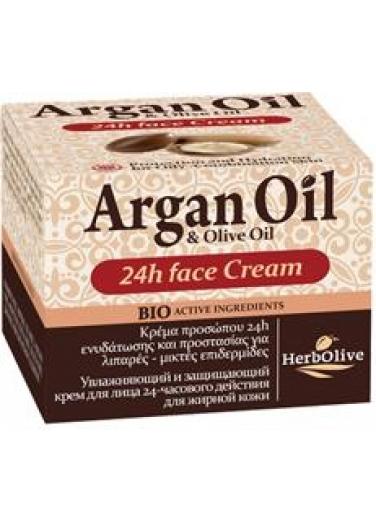 Argan 24h Face Cream for Oily-Mixed Skin 50ml