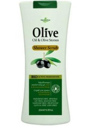 Shower Scrub with olive stones 200ml
