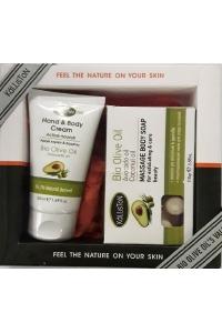 Gift Set Hand and Body Cream Avocado 75ml - Massage soap Avocado 110gr
