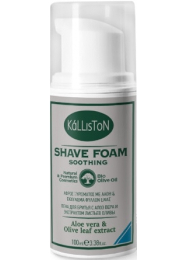 Shave foam soothing with Aloe and Olive leaf extracts 100ml