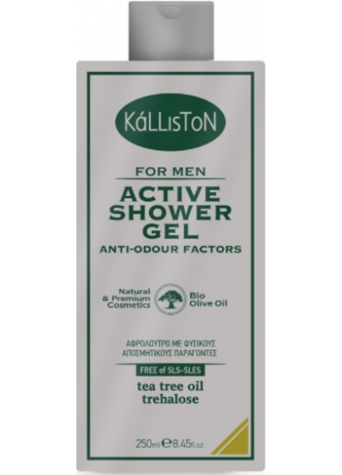 Men's Active Shower Gel with Anti-odor factors 250ml
